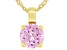Pink Cubic Zirconia 18K Yellow Gold Over Sterling Silver Pendant With Chain 3.47ctw