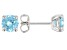 Blue Cubic Zirconia Rhodium Over Sterling Silver Earrings 2.75ctw