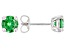 Green Cubic Zirconia Rhodium Over Sterling Silver Earrings 2.70ctw