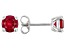 Lab Created Ruby Rhodium Over Sterling Silver Earrings 1.97ctw