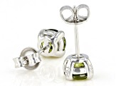 Green Cubic Zirconia Rhodium Over Sterling Silver Earrings 2.89ctw