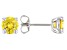 Yellow Cubic Zirconia Rhodium Over Sterling Silver Earrings 3.18ctw