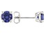 Blue Cubic Zirconia Rhodium Over Sterling Silver Earrings 2.82ctw
