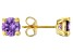 Purple Cubic Zirconia 18K Yellow Gold Over Sterling Silver Earrings 3.18ctw