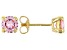 Pink Cubic Zircona 18K Yellow Gold Over Sterling Silver Earrings 2.85ctw