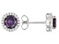 Purple And White Cubic Zirconia Rhodium Over Sterling Silver Earrings 2.80ctw