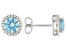 Light Blue And White Cubic Zirconia Rhodium Over Sterling Silver Earrings 2.80ctw