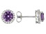 Lab Created Color Change Sapphire And White Cubic Zirconia Rhodium Over Silver Earrings 2.43ctw