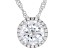 White Cubic Zirconia Rhodium Over Sterling Silver Pendant With Chain 3.73ctw