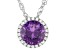 Lab Color Change Sapphire And White Cubic Zirconia Rhodium Over Silver Pendant With Chain 2.54ctw