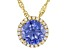 Blue And White Cubic Zirconia 18k Yellow Gold Over Sterling Silver 3.56ctw