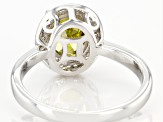 Green And White Cubic Zirconia Rhodium Over Sterling Silver Ring 3.25ctw