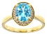 Light Blue And White Cubic Zirconia 18k Yellow Gold Over Sterling Silver Ring 3.00ctw
