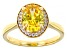 Yellow And White Cubic Zirconia 18k Yellow Gold Over Sterling Silver Ring 3.27ctw
