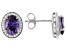 Purple And White Cubic Zirconia Rhodium Over Sterling Silver Earrings 4.31ctw