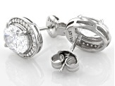 White Cubic Zirconia Rhodium Over Sterling Silver Earrings 4.78ctw