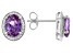 Purple Lab Created Color Change Sapphire & White Cubic Zirconia Rhodium Over Silver Earrings