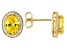 Yellow And White Cubic Zirconia 18k Yellow Gold Over Sterling Silver Earrings 4.36ctw