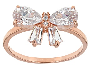 White Cubic Zirconia 18k Rose Gold Over Sterling Silver Ring 3.02ctw