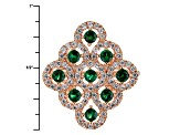Green And White Cubic Zirconia 18k Rg Over Sterling Silver Ring 1.56ctw