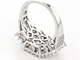 White Cubic Zirconia Rhodium Over Sterling Silver Ring 4.88ctw