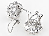 White Cubic Zirconia Rhodium Over Sterling Silver Earrings 8.51ctw