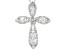 White Cubic Zirconia Rhodium Over Sterling Silver Pendant With Chain 6.98ctw