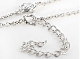 White Cubic Zirconia Rhodium Over Sterling Silver Necklace 6.31ctw