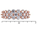 White Cubic Zirconia 18k Rg Over Sterling Silver Ring 2.85ctw