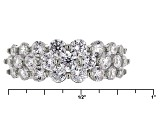 White Cubic Zirconia Rhodium Over Sterling Silver Ring 2.85ctw
