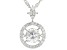 White Cubic Zirconia Rhodium Over Sterling Silver Pendant With Chain 2.65ctw