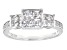 White Cubic Zirconia Rhodium Over Sterling Silver Ring 2.09ctw