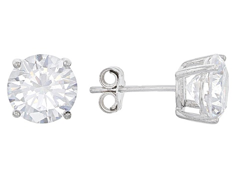 White Cubic Zirconia Rhodium Over Sterling Silver Earrings 27.50ctw