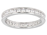 White Cubic Zirconia Rhodium Over Sterling Silver Rings Set Of 3 6.20ctw