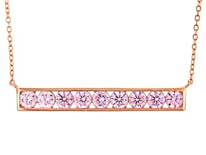 Pink Cubic Zirconia 18k Rg Over Sterling Silver Necklace 3.68ctw