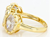 White Cubic Zirconia 18k Yg Over Sterling Silver Ring 12.29ctw