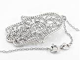 White Cubic Zirconia Rhodium Over Sterling Silver Pendant With Chain 2.59ctw