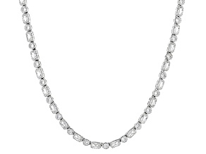 White Cubic Zirconia Rhodium Over Sterling Silver Necklace 27.43ctw