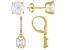 White Cubic Zirconia 18k Yellow Gold Over Sterling Silver Earrings Set 9.98ctw