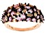 Pink And Brown Cubic Zirconia 18k Rg Over Sterling Silver Ring 5.68ctw