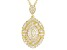 White Cubic Zirconia 18K Yellow Gold Over  Sterling Silver Pendant With Chain 2.89ctw