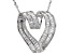 white cubic zirconia rhodium over sterling silver pendant with chain 5.31ctw