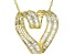 white cubic zirconia 18k yellow gold over sterling silver pendant with chain 4.52ctw