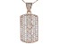 White Cubic Zirconia 18K Rose Gold Over Sterling Silver  Pendant With Chain