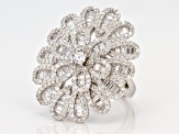 White Cubic Zirconia Rhodium Over Sterling Silver Ring 5.01ctw