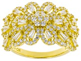 White Cubic Zirconia 18k Yellow Gold Over Sterling Silver Ring 2.24ctw