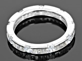 Cubic Zirconia Sterling Silver Ring 2.62ctw