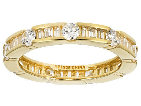 Cubic Zirconia 18k Yellow Gold Over Silver Ring 2.62ctw