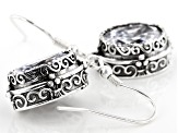 White Cubic Zirconia Rhodium Over Sterling Silver Center Design Earrings 9.67CTW