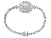 White Cubic Zirconia Rhodium Over Sterling Silver Bracelet 8.28ctw